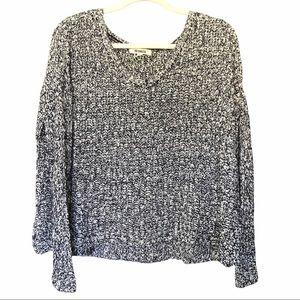 BB Dakota Pullover Sweater Sz L Navy Blue/White